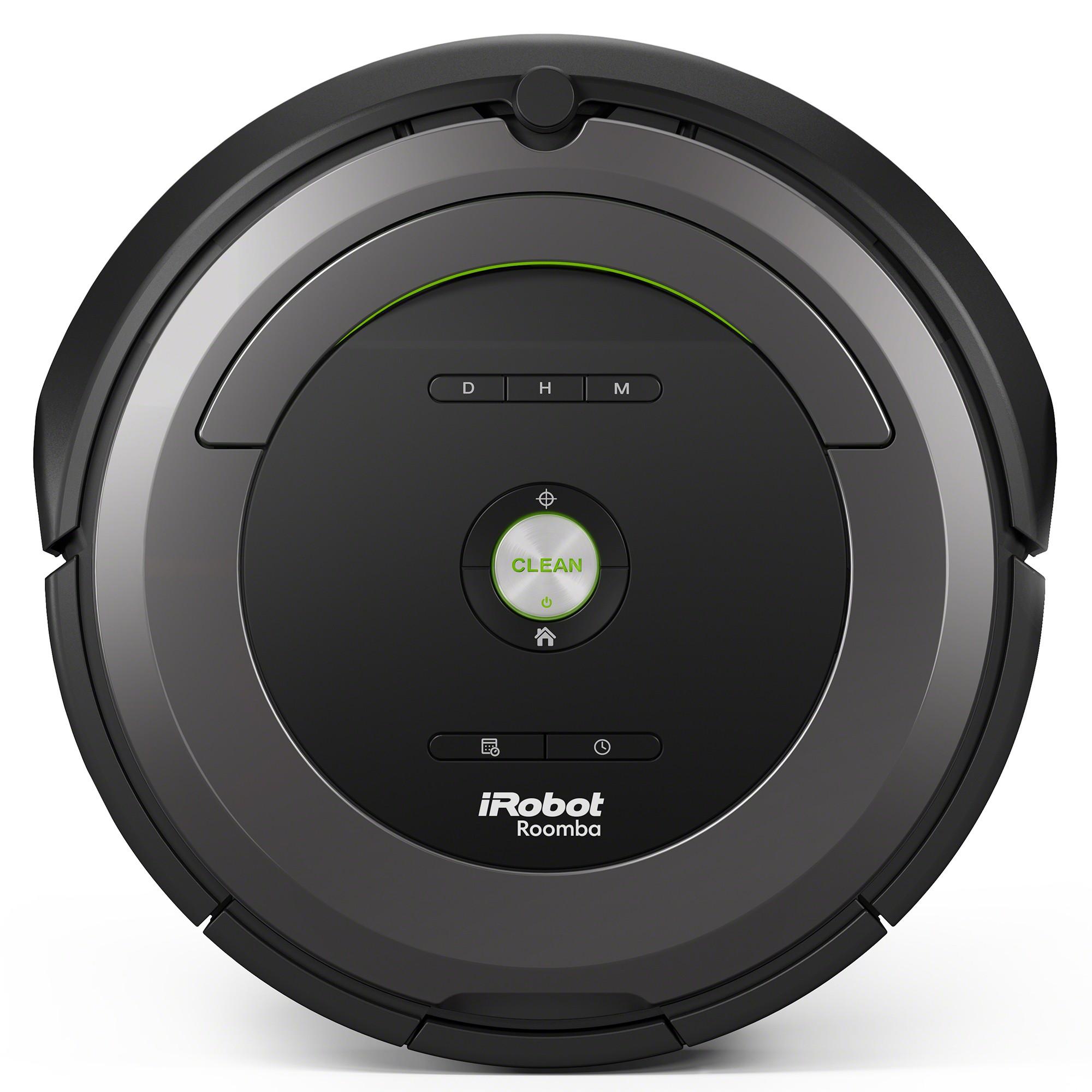 Робот пылесос iRobot Roomba 681iRobot<br>Робот-пылесос iRobot Roomba 681. Нужно всего лишь нажать кнопку «Clean», и пылесос Roomba 681 самостоятельно очистит до 80 квадратных метров без подзарядки. Укомплектован контейнером AeroVac Bin. Новый контейнер не только имеет повышенную емкость, предназ...<br>