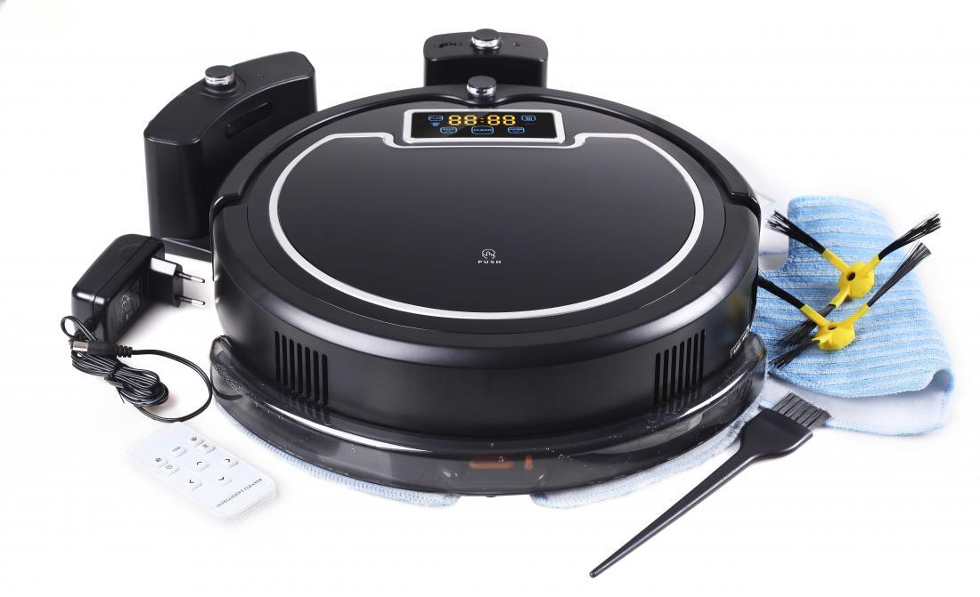 Робот пылесос iBoto AquaiBoto<br>iBoto Aqua - это робот-пылесос, который способен выполнять влажную уборку. Это также интеллектуальный робот-пылесос, который способен адаптироваться к разным типам напольных покрытий, тем самым не только обеспечивая максимально полное удаление пыли и загр...<br>